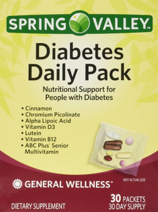 Picture of Spring Valley Diabetes Daily Pack, Supports General Wellness, 30 Packets