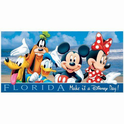 Picture of Disney Mickey Mouse Donald Goofy Pluto Beach Towel