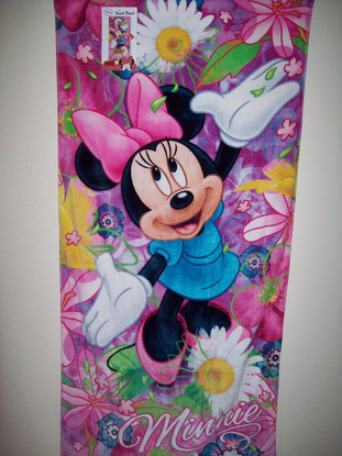 Picture of Disney Minnie Mouse Flower Garden Spring Beach Towel