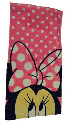 Picture of Disney Minnie Mouse 2 Piece Bath Towel Set Pink