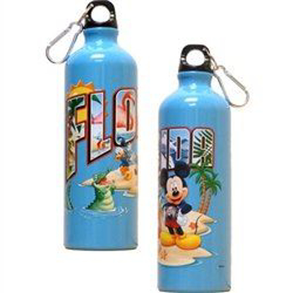Picture of Florida Postcard Mickey Goofy Donald Aluminum Water Bottle