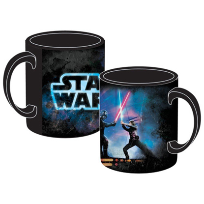Picture of Licensed Disney 14oz Coffee Mug Star Wars Saber Fight Luke Skywalker Darth Vader