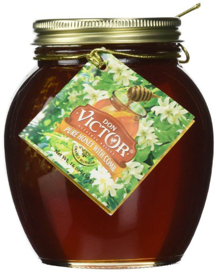 Picture of Don Victor Orange Blossom Comb Honey Globe Jar, 16 Ounce