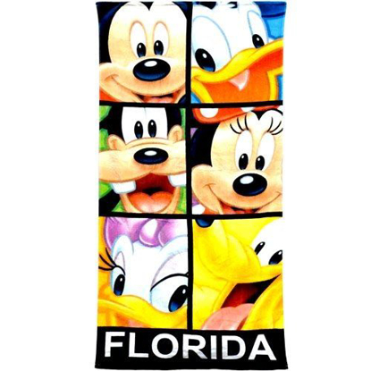 Picture of Mickey Mouse and Friends Blocked Out Minnie Goofy Pluto Doanld Daisy Beach Towel