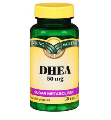 Picture of Spring Valley DHEA 50mg Dietary Supplement 50 Tablets Sugar Metabolism Vitality
