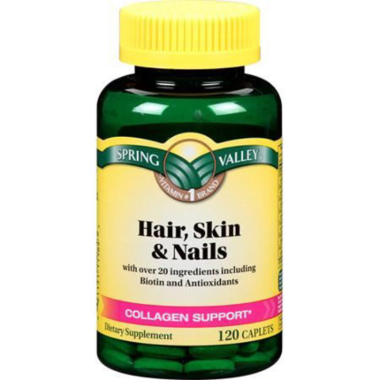 Spring Valley Hair Skin Nails Collagen Support 120 Ct Dietary Supplement Grow