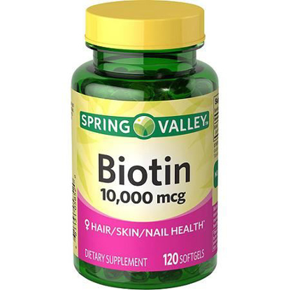 Picture of Spring Valley Biotin Dietary Supplement, 10,000 mg, 120 Softgels