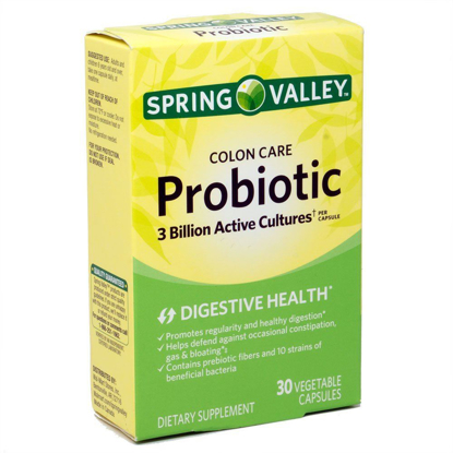 Picture of Spring Valley Colon Care Probiotic Dietary Supplement Capsules, 30 count
