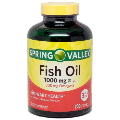 Picture of Spring Valley All Natural Fish Oil Heart Health 1000 Mg 300 Mg Omega-3 200 So