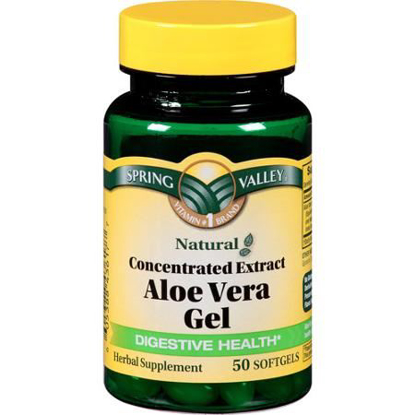 Picture of Spring Valley - Aloe Vera Gel 25 mg, Concentrated Extract, 50 Softgels