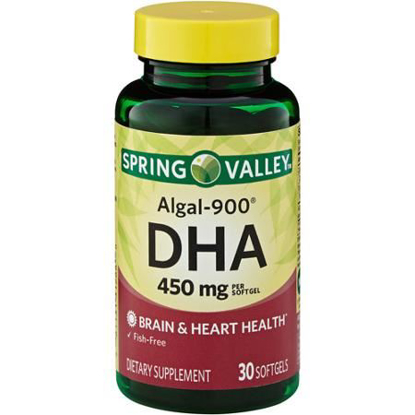 Picture of Spring Valley - ALGAL-900, DHA 450 mg, 30 Softgels