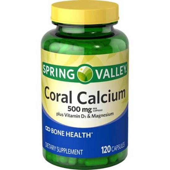 Picture of Spring Valley Coral Calcium Plus Vitamin D3 Magnesium 500 Mg 120 Capsules