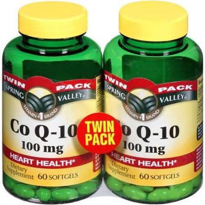 Picture of Spring Valley Co Q-10 100mg Heart Health Supplement, 120 Softgels