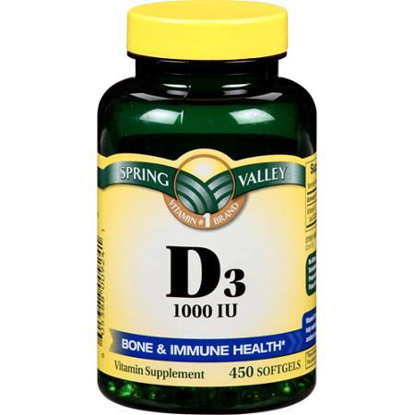 Picture of Spring Valley - Vitamin D-3 1000 IU, 450 Softgels