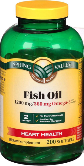 Spring Valley Fish Oil 1200 Mg Strength Enteric Coated 200 Softgels