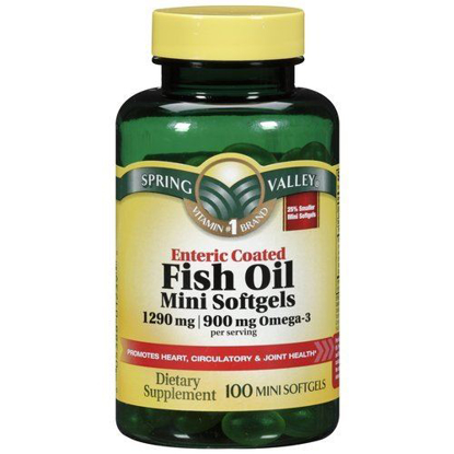 Picture of Spring Valley - Fish Oil 1290 mg, Omega-3 900 mg, Enteric Coated, 100 Mini So...