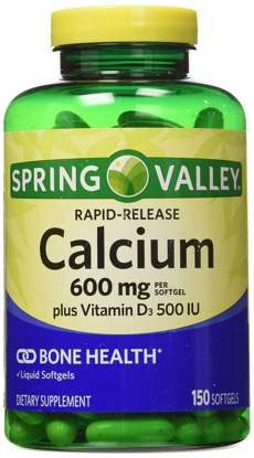 Picture of Spring Valley Calcium Liquid Filled Absorbable 150 Softgels 600mg Plus Vitamin D3
