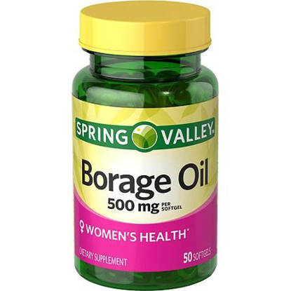 Picture of Spring Valley - Borage Oil 500 mg, 50 Softgels