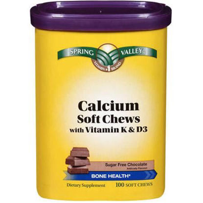 Picture of Spring Valley Calcium Soft Chews with Vitamin K & D3 Bone Health Sugar Free ...