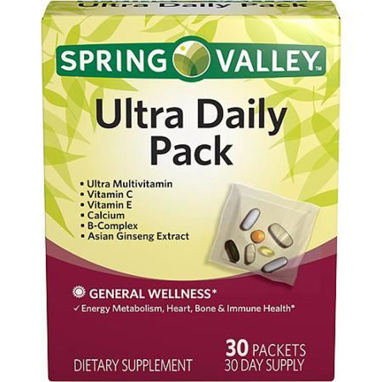 Picture of Spring Valley Ultra Daily Pack Vitamins & Minerals For Men & Women 1 Box