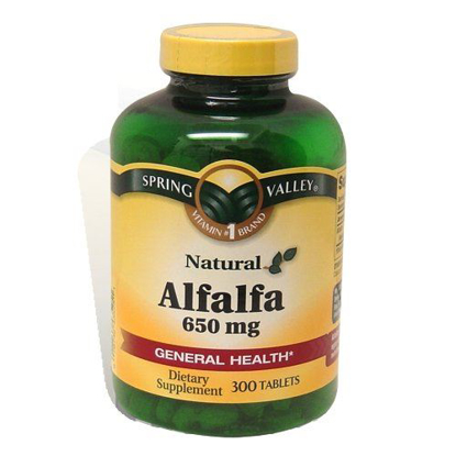 Picture of Spring Valley - Alfalfa 650 mg, 300 Tablets