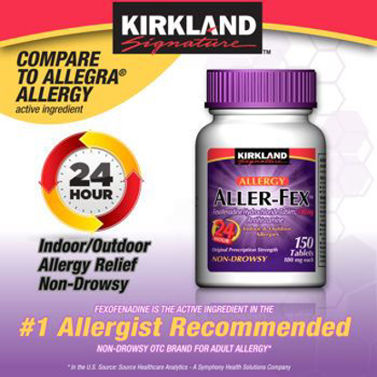 Picture of Kirkland Signature Aller-Fex , 180 mg 150 Tablets