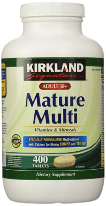 Picture of Kirkland Signature Adults, 50 plus Mature Multi Vitamins & Minerals, 400-Count