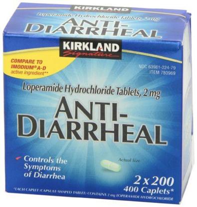 Picture of Kirkland Signature Anti-Diarrheal, 400-Count Caplets (2 bottle)