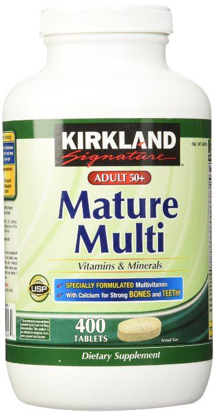 Picture of Kirkland Adult 50+ Mature Multi Vitamins & Minerals: 400 Tablets
