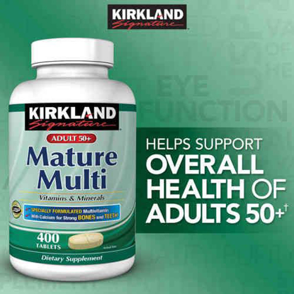 Picture of Kirkland Signature Mature Adults Multi Vitamins & Minerals, 400 Tablets Each (Pack of 2)