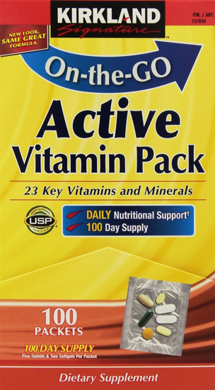 Picture of Kirkland Signature Daily Multivitamin Pack With Energy Boosting Nutrients, 100 Packets