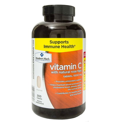 Picture of Member's Mark - Vitamin C 1000 mg, With Natural Rose Hips, 500 Tablets