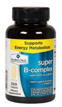 Picture of Member's Mark Super B-Complex with Biotin Vitamin B and Vitamin C (1 Bottle (300 Tablets))