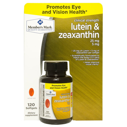 Picture of Member's Mark Lutein & Zeaxanthin Dietary Supplement (120 ct.)