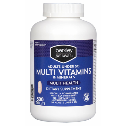 Picture of Berkley & Jensen Multi Vitamins & Minerals Dietary Supplement Tablets - 500 C...