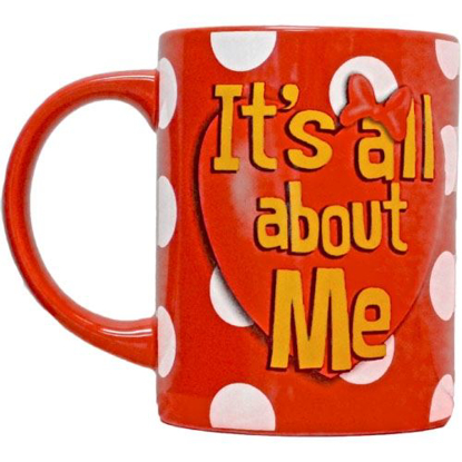 Picture of Disney Minnie Mouse It's All About Me 14oz Relief Mug