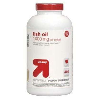 Picture of Up & Up Fish Oil 1000 Mg For Heart Skin & Joint Health 400 Soft gels