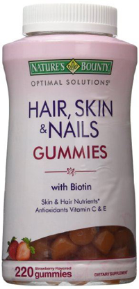 Picture of Nature's Bounty Optimal Solutions Hair, Skin and Nails Gummies 220 Count