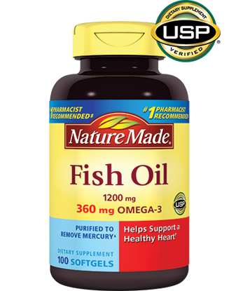 Picture of Nature Made Fish Oil 1200 Mg Omega-3, 100 Gels (Twin Pack)