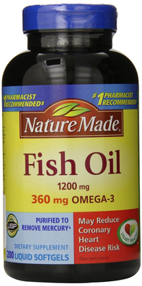 Picture of Nature Made Fish Oil 1200 mg, 400 Softgels Maximum Strength,200 Softgels (2 pack)