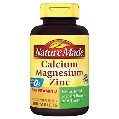 Picture of Nature Made Calcium Magnesium Zinc with Vitamin D3, 200 Tablets (Pack of 2)