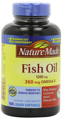 Picture of Nature Made Fish Oil Omega-3 1200 mg 100 Softgels