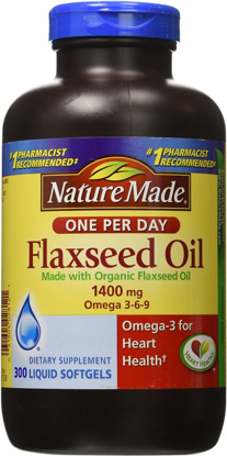 Picture of Nature Made Organic Flaxseed Oil 1,400 mg - Omega-3-6-9 for Heart Health - 300 Softgels