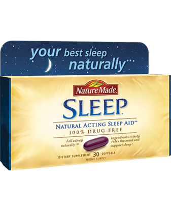 Picture of Nature Made Natural Sleep Aid Liquid Softgels, 30ct
