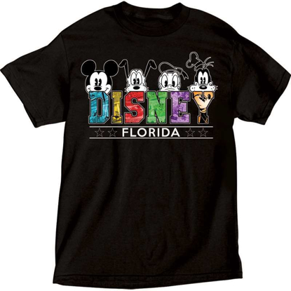 Picture of Disney Men's Florida Mickey Mouse Pluto Donald Goofy T Shirt