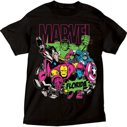 Picture of Adult T-Shirt Marvel Avengers Group Captain America Thor Hulk (Florida)
