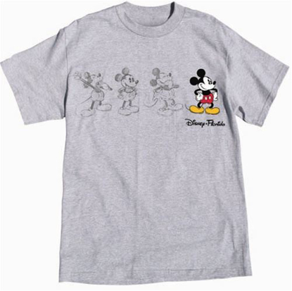 Picture of Disney Adult 3 Mickey Embroidered Sketch Gray Heather T-Shirt