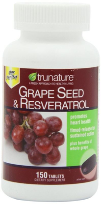 Picture of TruNature Grape Seed & Resveratrol - 150 Tablets