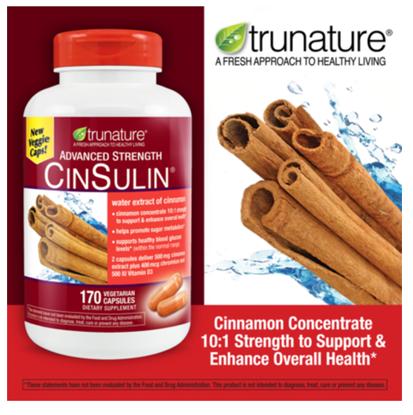 Picture of Trunature Advanced Strength Cinsulin 170 Capsules