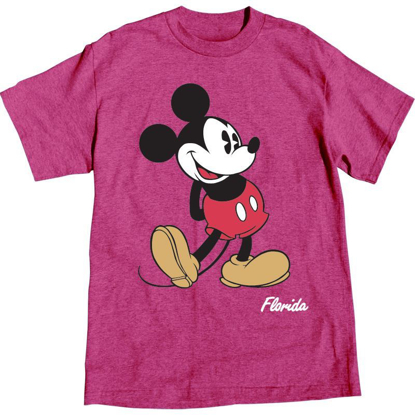 Picture of Disney Adult Womens T-shirt Mickey Mouse Head to Toe, Island Pink Heather
